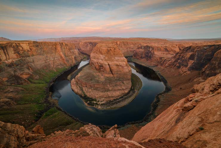 Sunrise at Horseshoe Bend Arizona