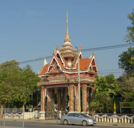 View from train window Train from Bangkok to Kanchanaburi Thailand