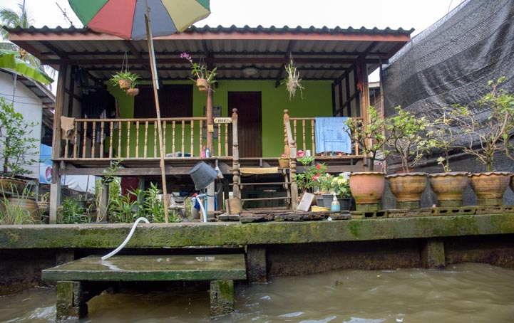 House Damnoen Saduak Floating market Bangkok Thailand