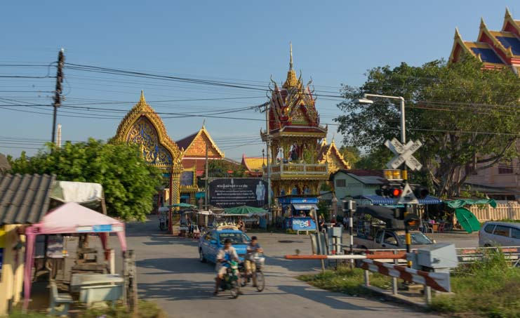 Views from Train from Bangkok to Kanchanaburi Thailand