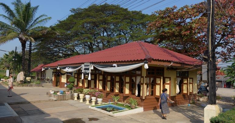Train station Bangkok to Kanchanaburi train Thailand