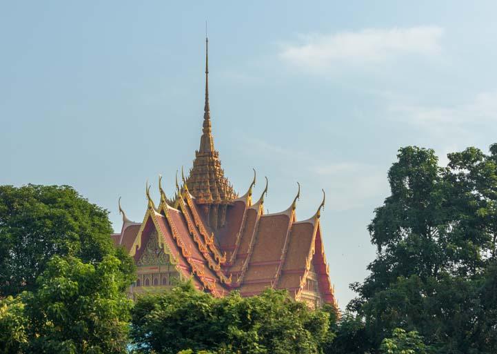 Window view Bangkok to Kanchanaburi Thailand