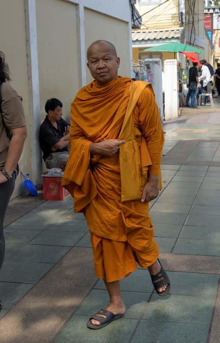 Buddhist monk Bangkok Thailand