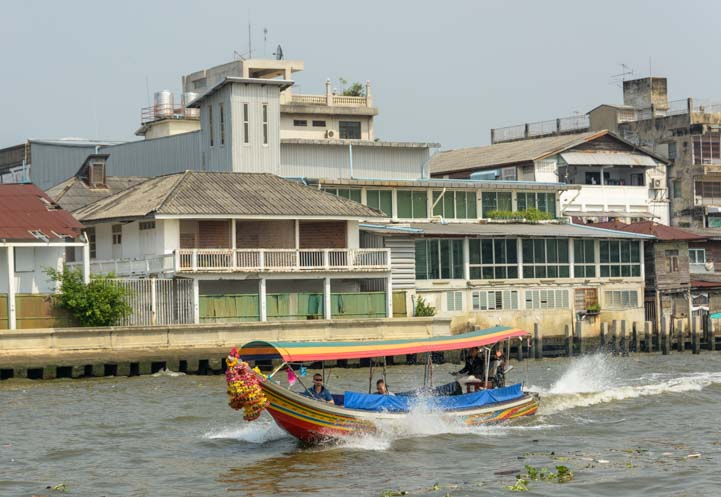 Longtail boat Chao Phraya River Bangkok Thailand