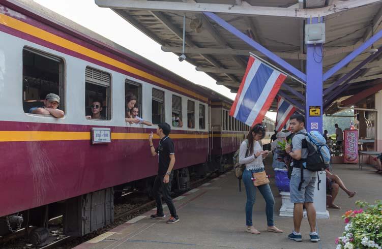 Kanchanaburi Train Station Train from Bangkok to Kanchanaburi Thailand