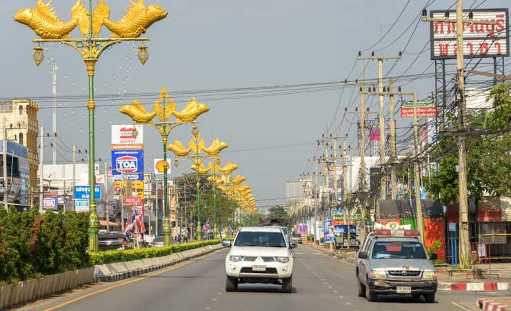 Kanchanburi Thailand city street