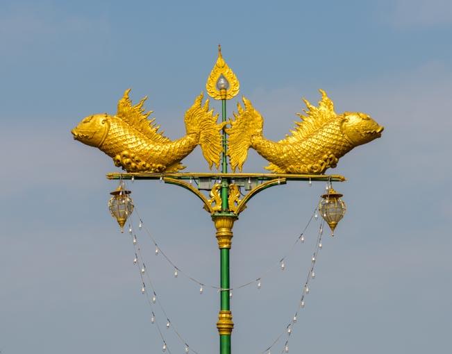 Streetlight decoration Kanchanaburi Thailand