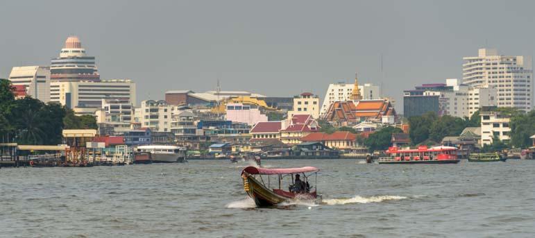 Longtail boat Bangkok Thailand Chao Phraya River