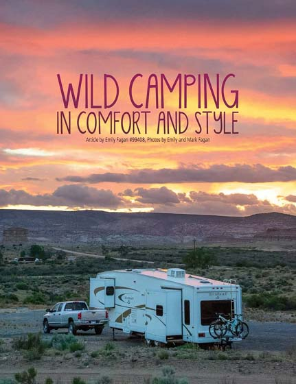 Wild Camping in Comfort and Style in Escapees Magazine by Emily Fagan
