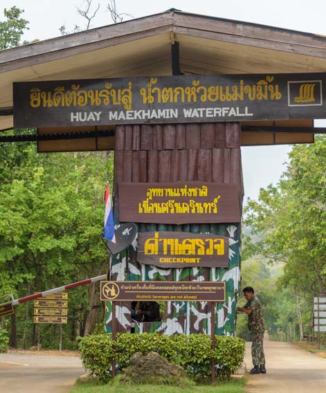 Huay Mae khamin Waterfall National Park Kanchanaburi Thailand Entrance gate