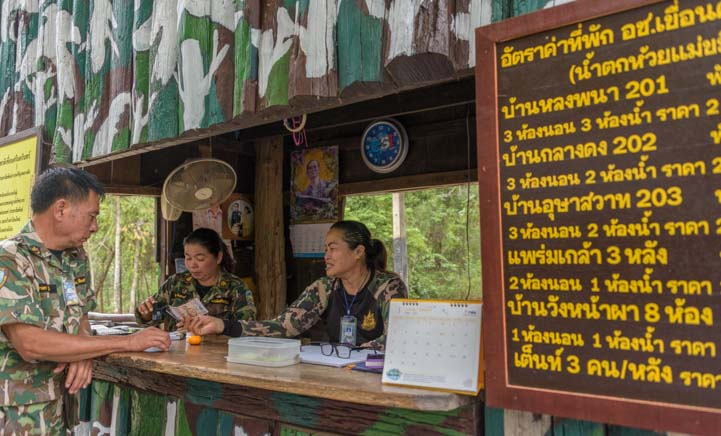 Sri Nakarin Dam National Park Entrance Kanchanaburi Thailand