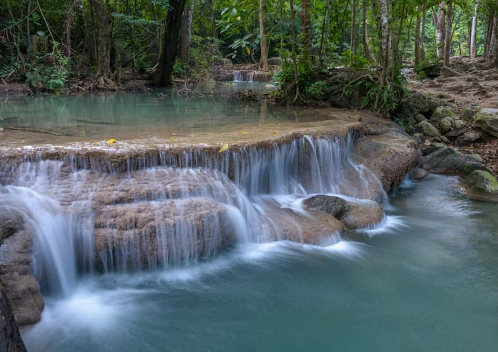 Best waterfall in Thailand Erawan Waterfall Erawan National Park Kanchanaburi Thailand