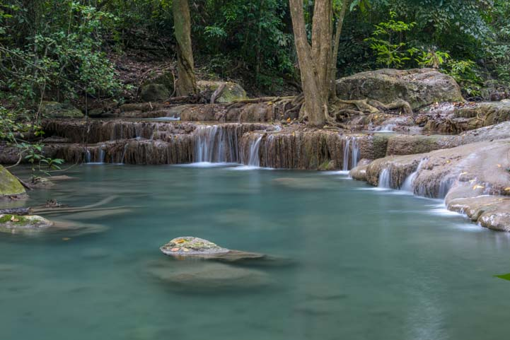 Erawan Waterfall Pool at Erawan National Park Kanchanaburi Thailand