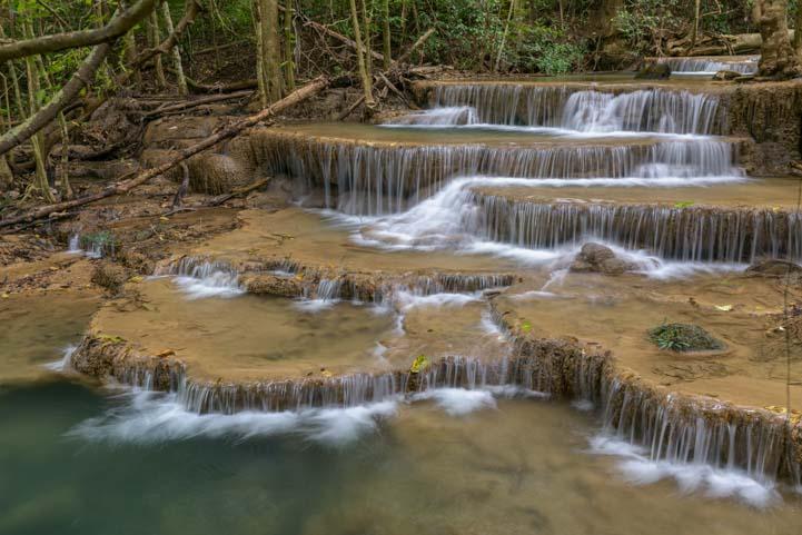 Huay Mae Khamin Waterfall Srinikarin Dam National Park Kanchanaburi Thailand