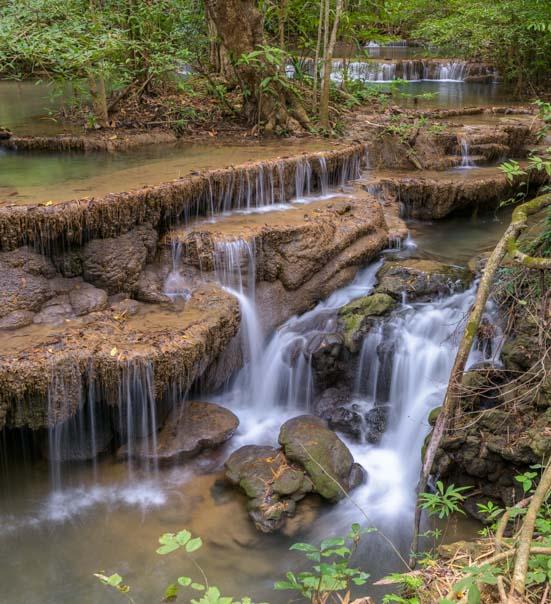 Huay Maekhamin Waterfall Khuean Srinagarindra National Park Kanchanaburi Thailand