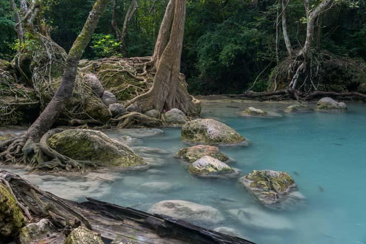 Turquoise pool Erawan National Park Kanchanaburi Thailand