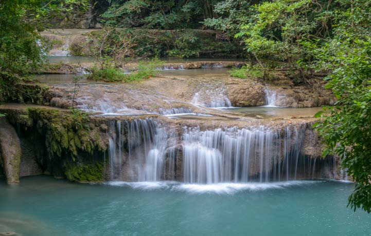 Favorite waterfall in Thailand Erawan Waterfall Erawan National Park Kanchanaburi Thailand