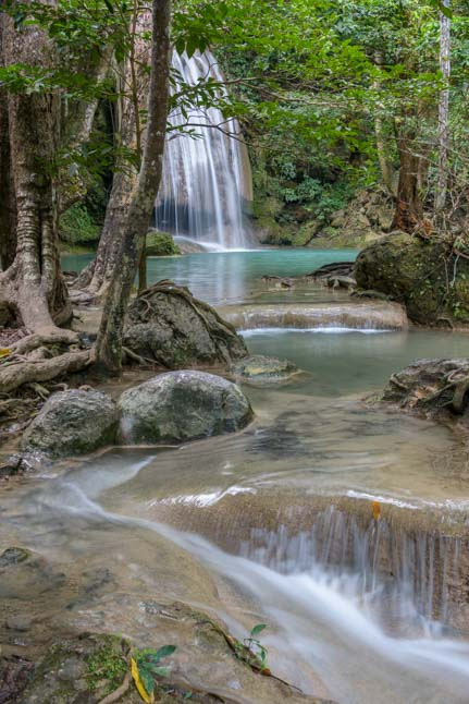 Erawan Falls National Park Kanchanaburi Thailand