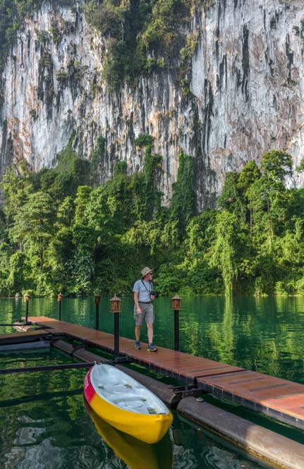 Khao Sok Floating Raft House Resort Greenery Panvaree Chiewlarn Lake Thailand