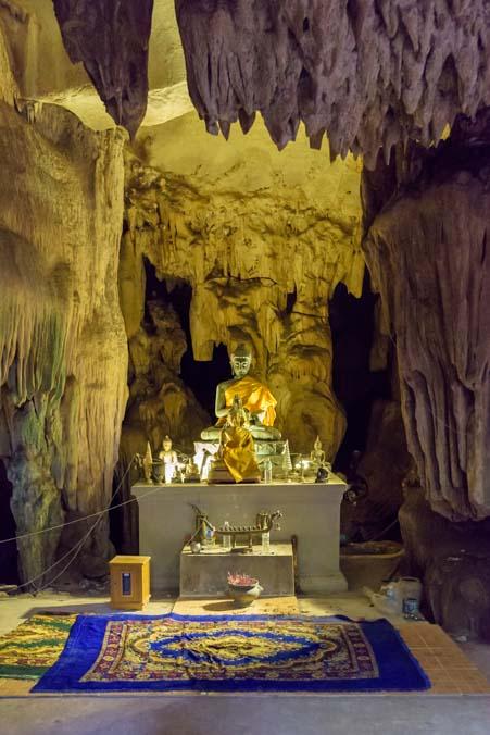 Buddha statue in Lawa Cave Kanchanaburi Thailand
