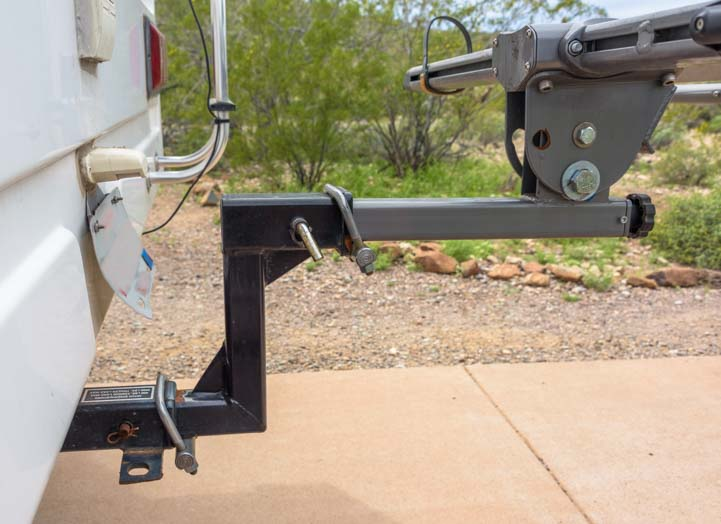 Kuat NV BIke rack and bike rack extension and hitch tightener