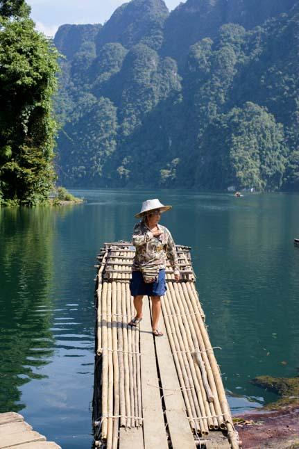 Bamboo raft Khao Sok National Park Thailand