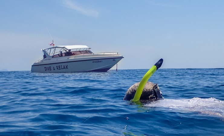 Dive & Relax Ko Rok snorkeling tour near Ko Lanta Thailand