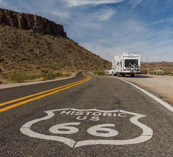 RV on Route 66 Arizona