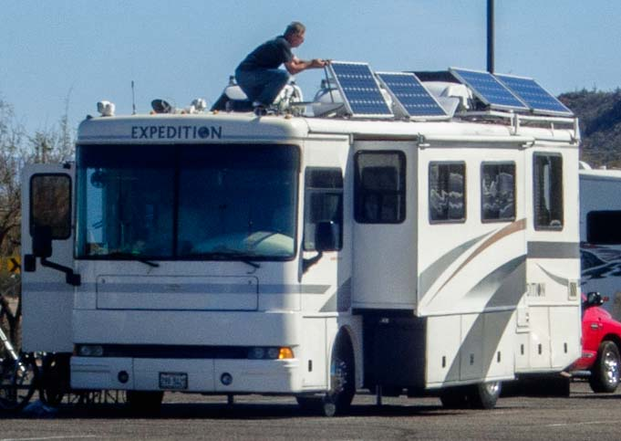 Installing solar panels on a motorhome RV