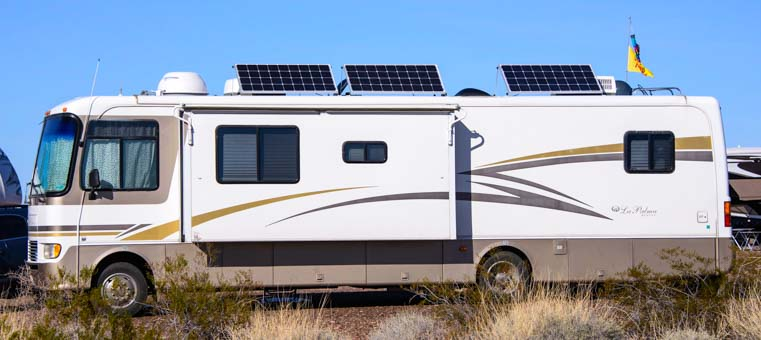 Affordable solar power on a motorhome