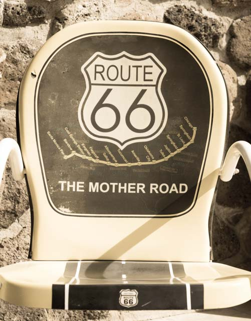 Route 66 chair in Arizona