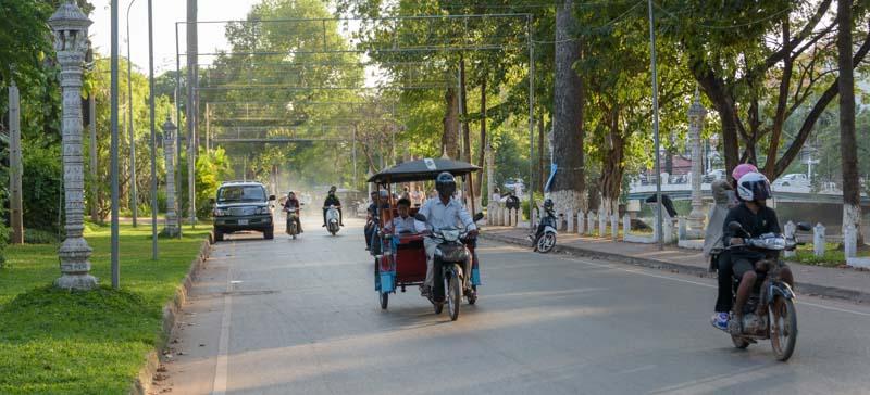 Tuk-tuk drivers in Siem Reap Angkor Cambodia