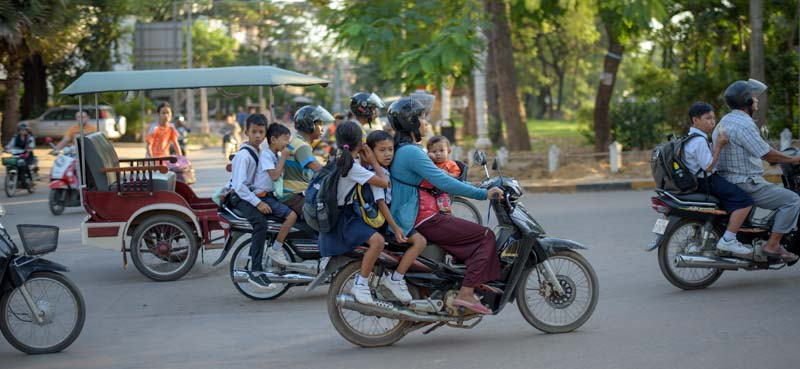 Motorbikes in Siem Reap Cambodia