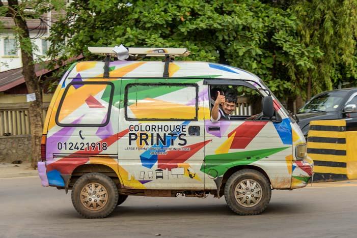 Little minibus Siem Reap Cambodia