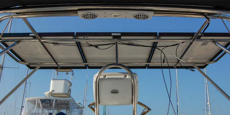 Affordable solar panel installation on a sailboat