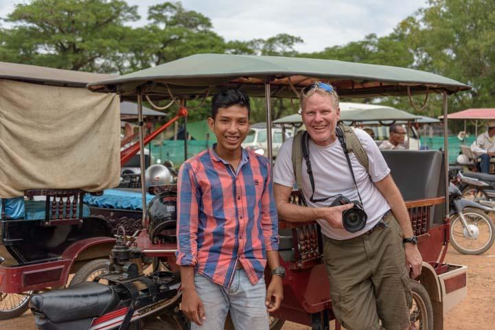 Tuk-tuk driver in Angkor Wat Siem Reap Cambodia