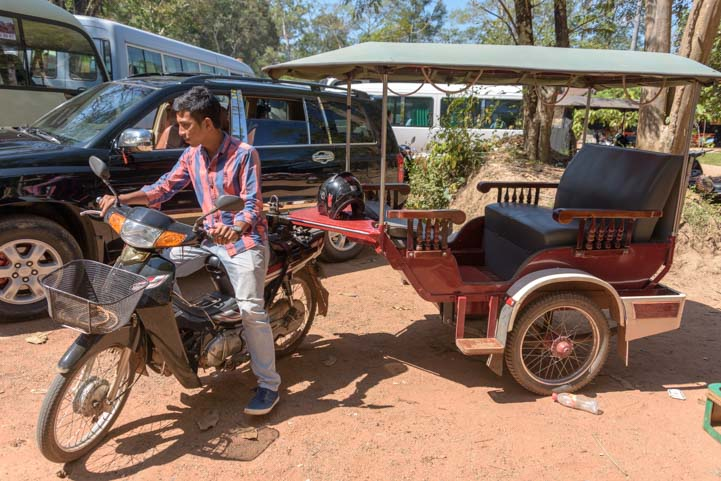Siem Reap tuk-tuk driver for Angkor Wat in Cambodia Pisal Rom