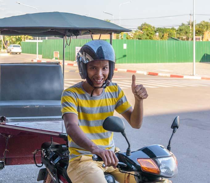 Tuk-tuk driver in Angkor Wat Siem Reap Cambodia Pisal Rom