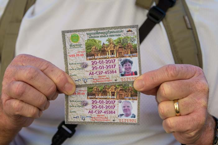 Angkor Wat National Park entrance tickets Cambodia