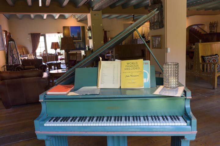 Piano in La Posada hotel Winslow Arizona Route 66