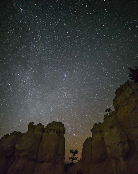 Fairy Tale Canyon Bryce Canyon National Park Night Stars