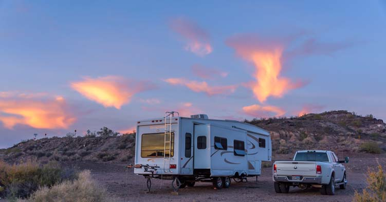 RV camping boondocking Arizona