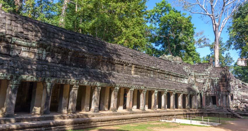 Courtyard Ta Prohm temple Siem Reap Angkor Angkor Cambodia