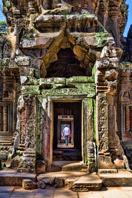 Doorway Ta Prohm Temple Angkor Cambodia