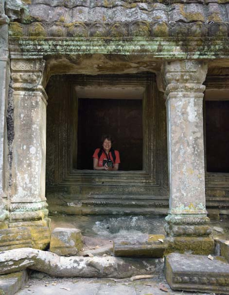 Ta Prohm temple columns Angkor Siem Reap Cambodia