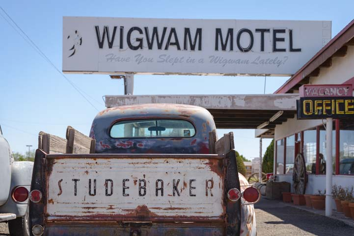Studebaker truck at Wigwam Motel Holbrook Arizona Route 66