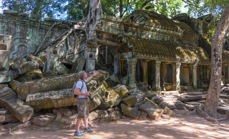 Ta Prohm temple ruins Angkor SIem Reap Cambodia