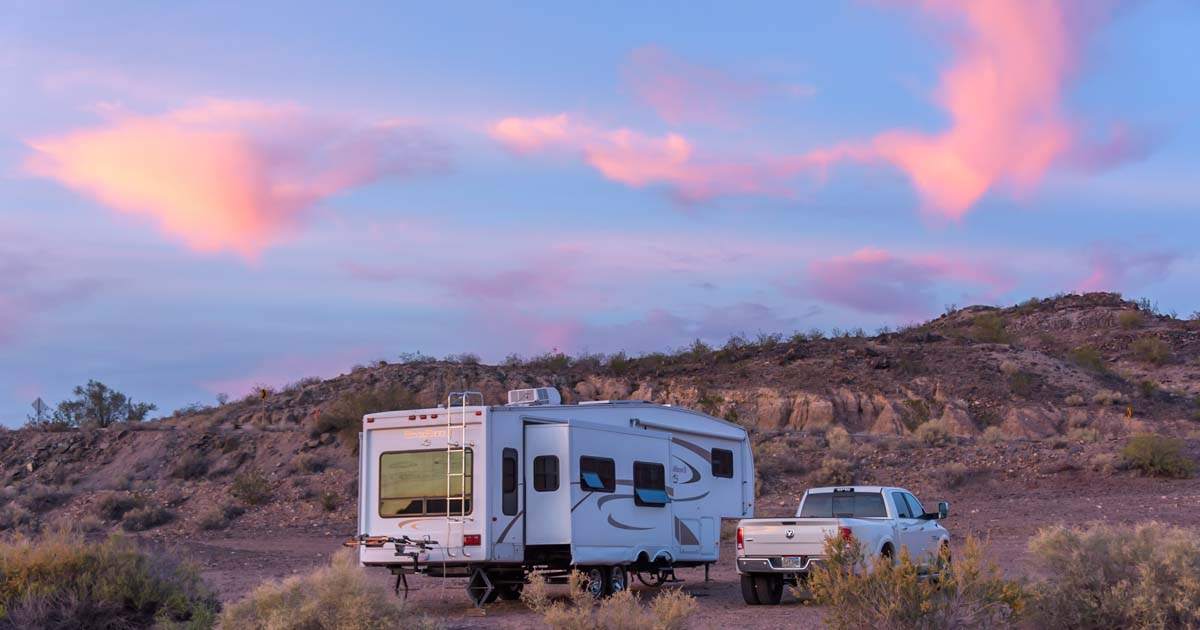 Rv Camping With The Rock Art Petroglyphs In Gila Bend Az