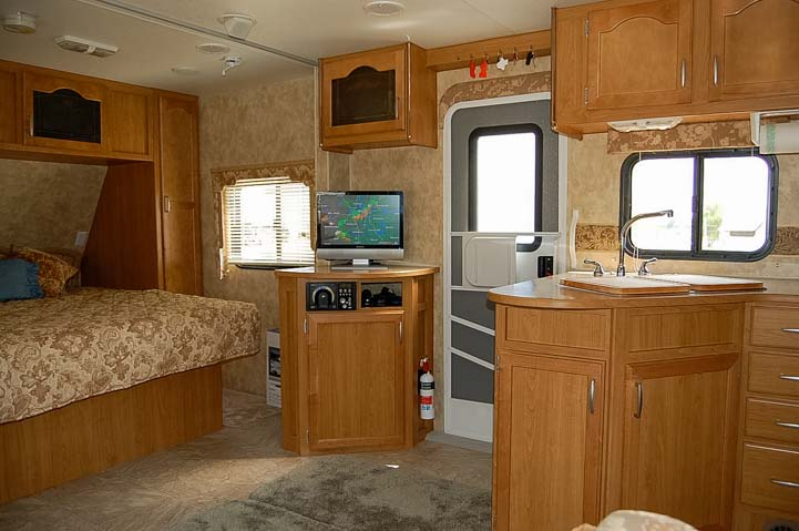 Travel trailer interior 1st full-time RV home