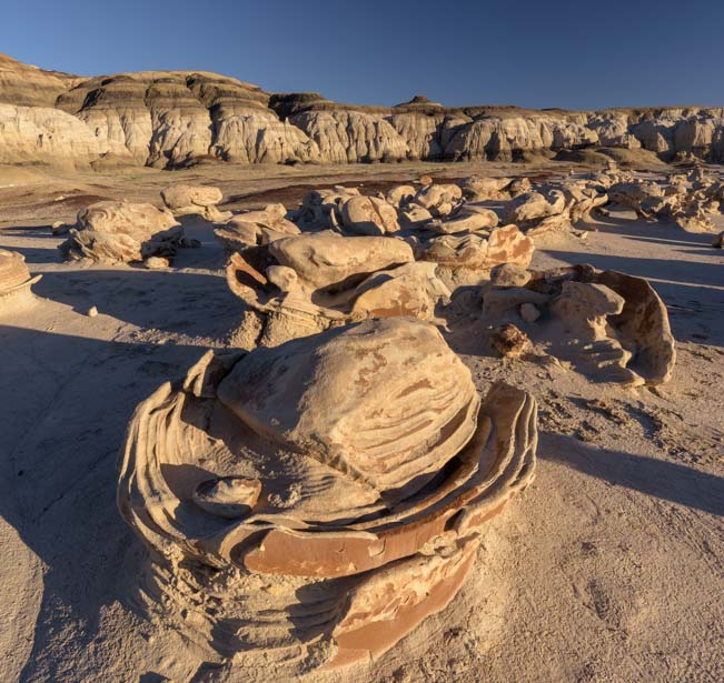 Alien eggs Bisti De-Na-Zin Wilderness New Mexico